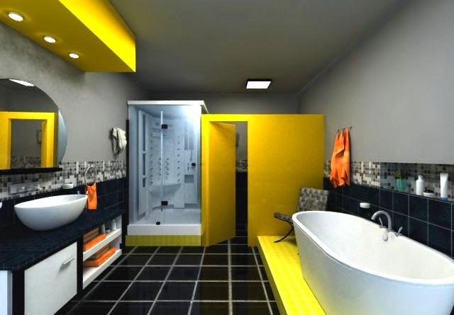 Dise ar ba os modernos y coloridos arquitexs for Banos modernos para departamentos