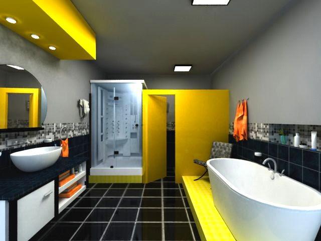 Hice Del Baño Color Amarillo:Diseñar Baños modernos y Coloridos