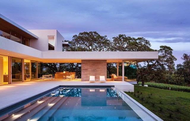 Casa moderna en un viñedo de California
