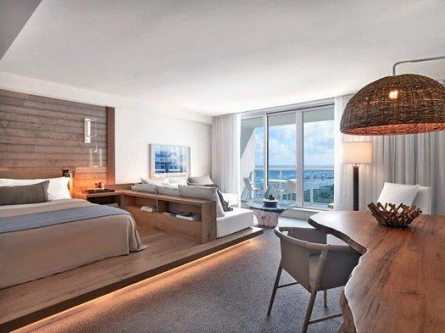 habitacion Hotel South Beach en Miami, Florida