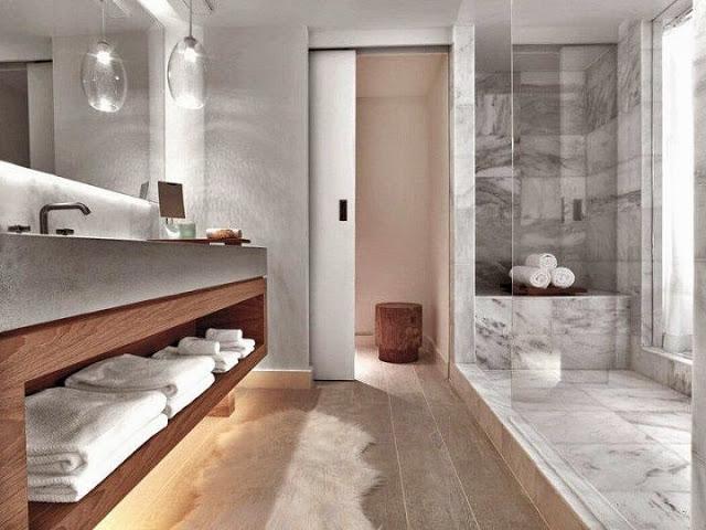 baño-Hotel South Beach en Miami, Florida