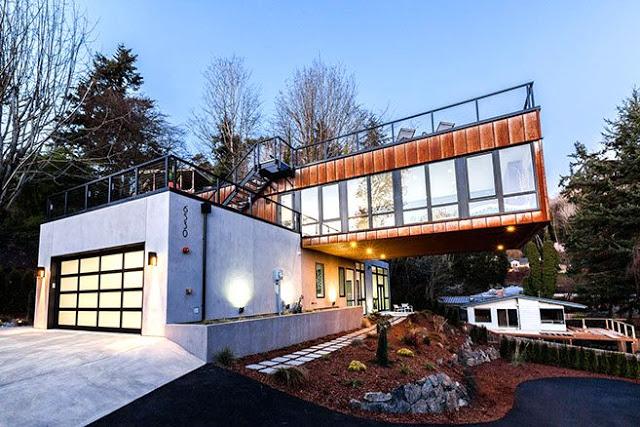 Casa moderna con vistas al lago washington for Casas modernas en washington