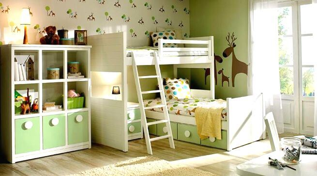 Decorar habitaciones infantiles en color verde for Decoracion dormitorios infantiles