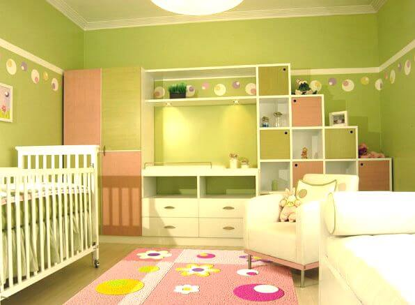 decoración-color-verde-habitación-infantil