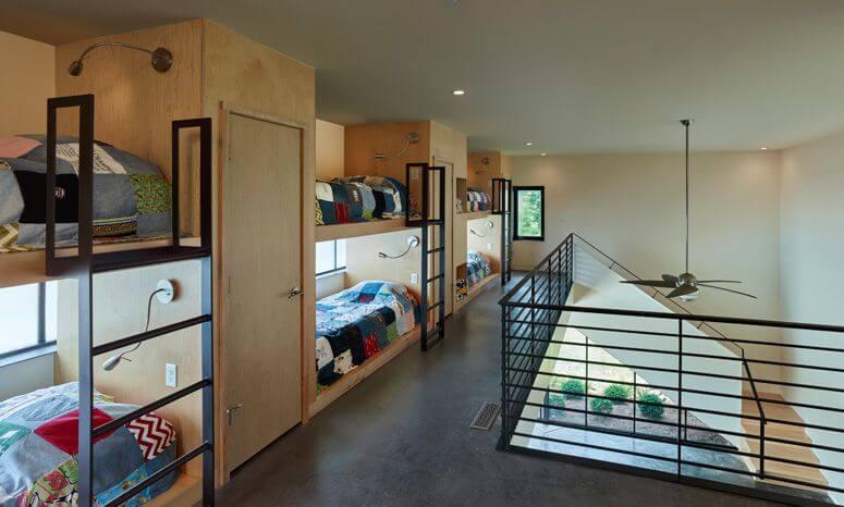 interior cabaña madera