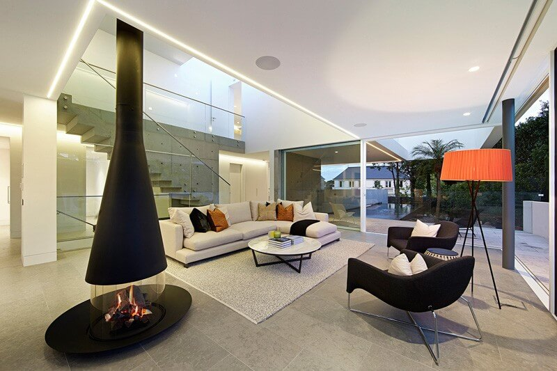 Arquitectura interior casa moderna arquitexs for Departamentos arquitectura moderna
