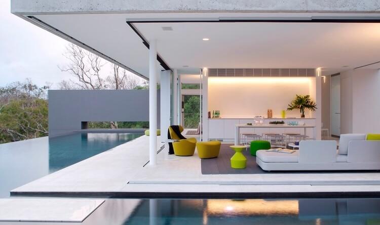 Casa moderna minimalista vista al mar en hamilton island for Casa minimalista living