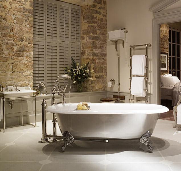 Bañeras con patas en baños modernos de estilo vintage ...