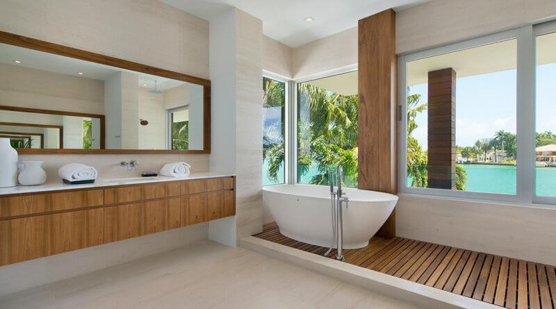 Casa moderna di lido island miami beach florida for Muebles modernos en miami florida