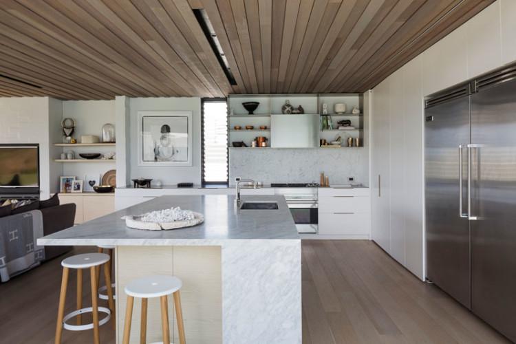 Casa de playa minimalista en nueva zelanda arquitexs for Isla cocina comedor