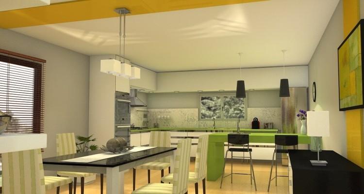 Departamento moderno en color luz y forma arquitexs for Cocinas departamentos modernos