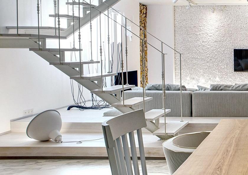 Reforma y decoraci n de un apartamento d plex arquitexs for Escaleras de duplex