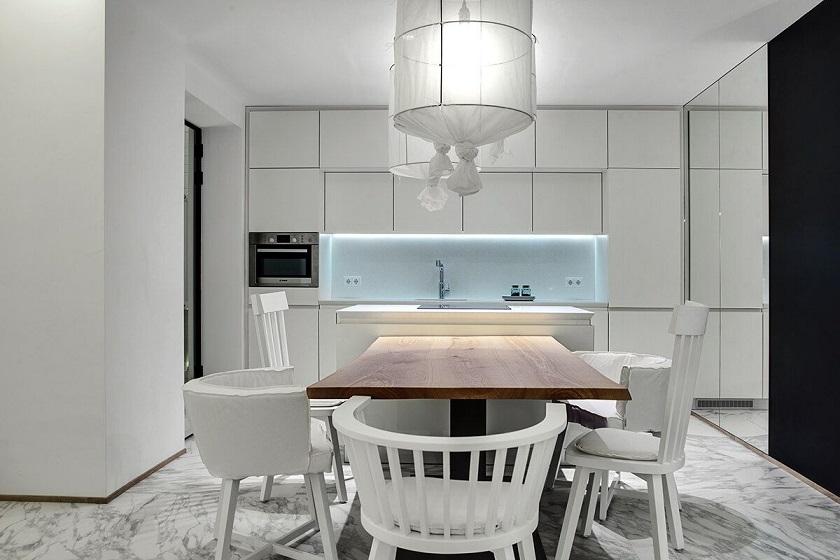 Reforma y decoraci n de un apartamento d plex arquitexs for Cocinas blancas modernas 2016