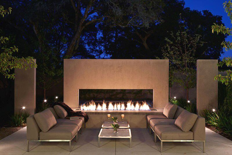 25 jardines y terrazas con encanto arquitexs - Chimeneas para terrazas ...