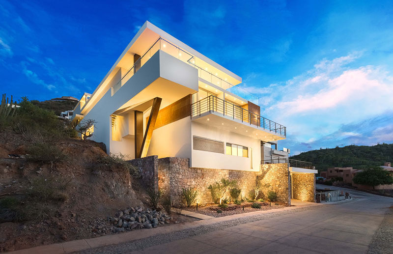 Casa moderna con vistas al mar en México