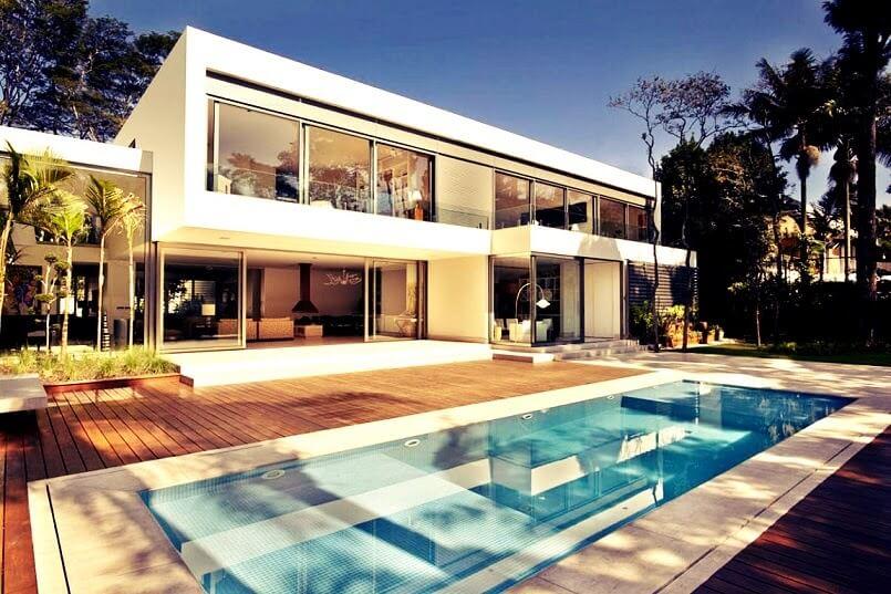 35 fotos de fachadas de casas modernas arquitexs for Arquitectura moderna minimalista