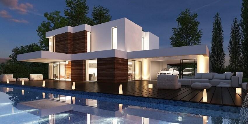 35 fotos de fachadas de casas modernas arquitexs for Casas campestres modernas planos