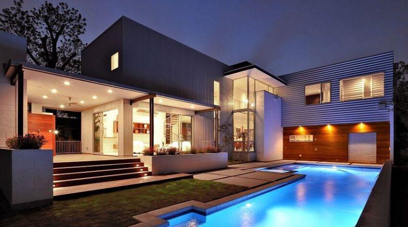35 fotos de fachadas de casas modernas arquitexs for Casa moderna flooring