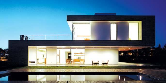 35 fotos de fachadas de casas modernas arquitexs for Proyectos casas modernas