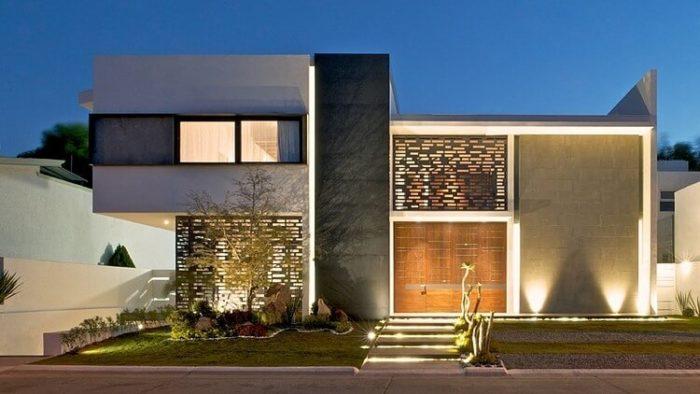 35 fotos de fachadas de casas modernas arquitexs for Fachadas para residencias
