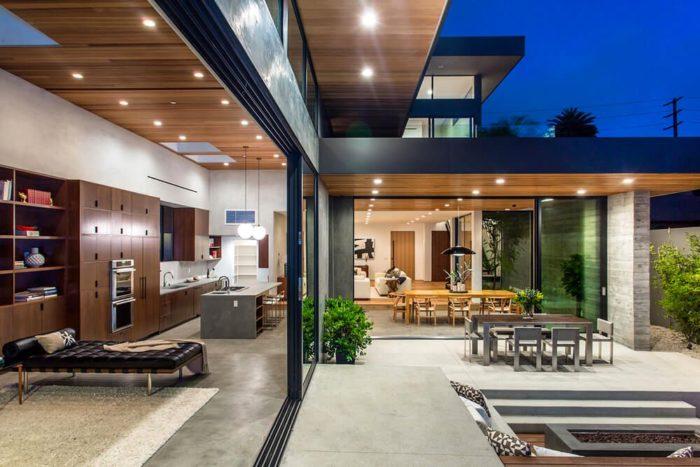 Casa moderna palms residence en venice beach los ngeles for Casas con terrazas modernas