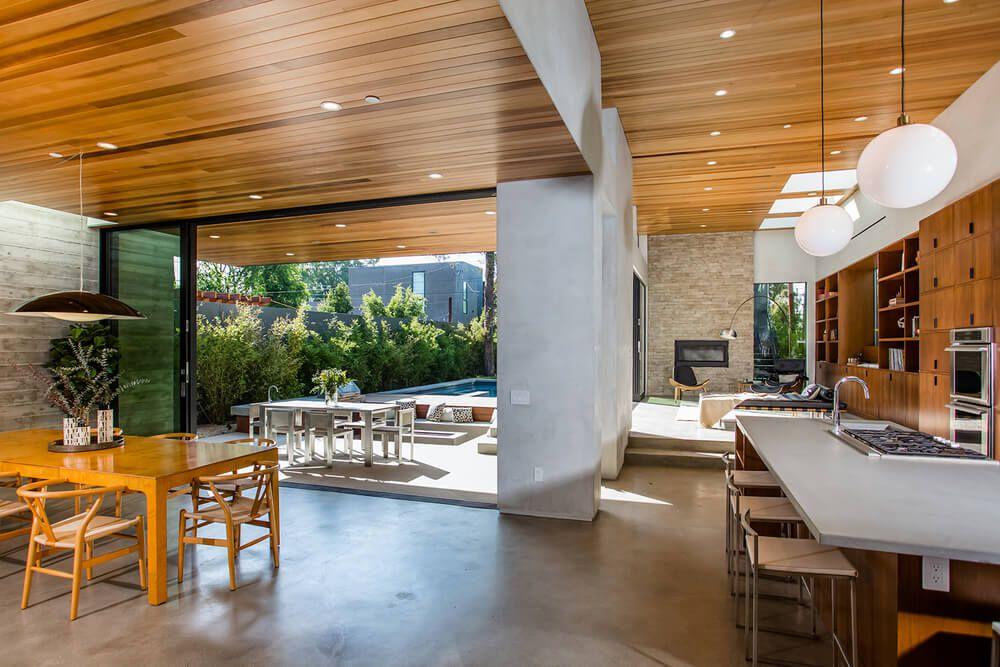 Interior Casa Moderna Madera Arquitexs