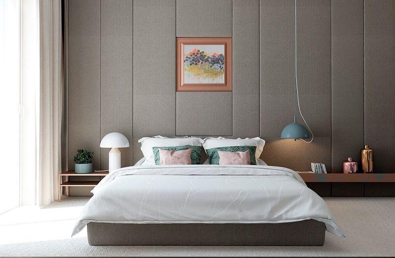 25 elegantes dormitorios de matrimonio en tonos grises - Decoracion pared dormitorio ...
