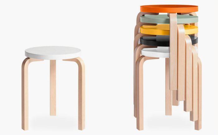 sillas de diseño famosas taburete-60-alvar-aalto