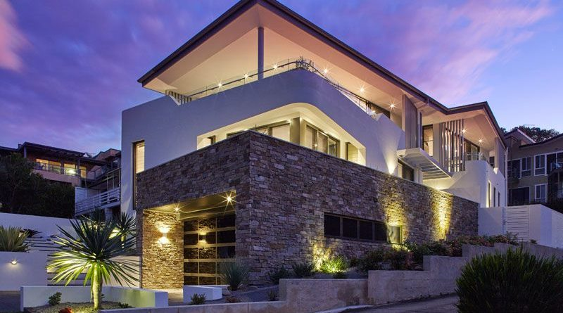 Moderna casa con fachada de piedra en australia arquitexs for Fachadas de casas ultramodernas
