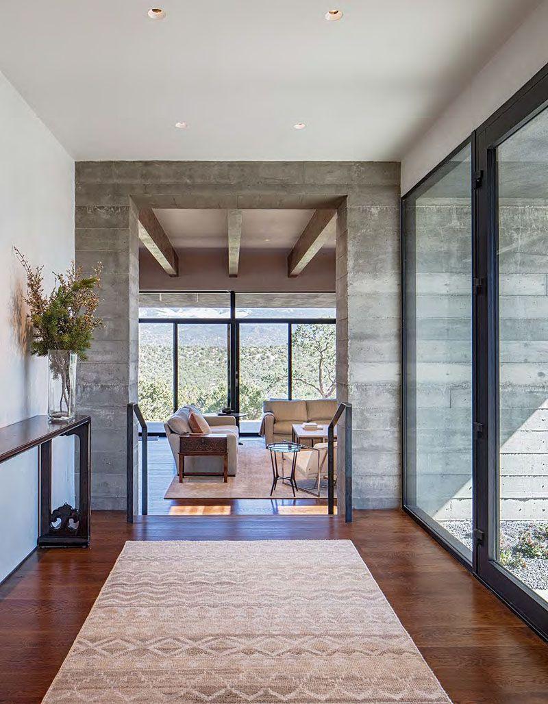 Casa de hormig n en el desierto de nuevo m xico arquitexs for Casa minimalista 2017