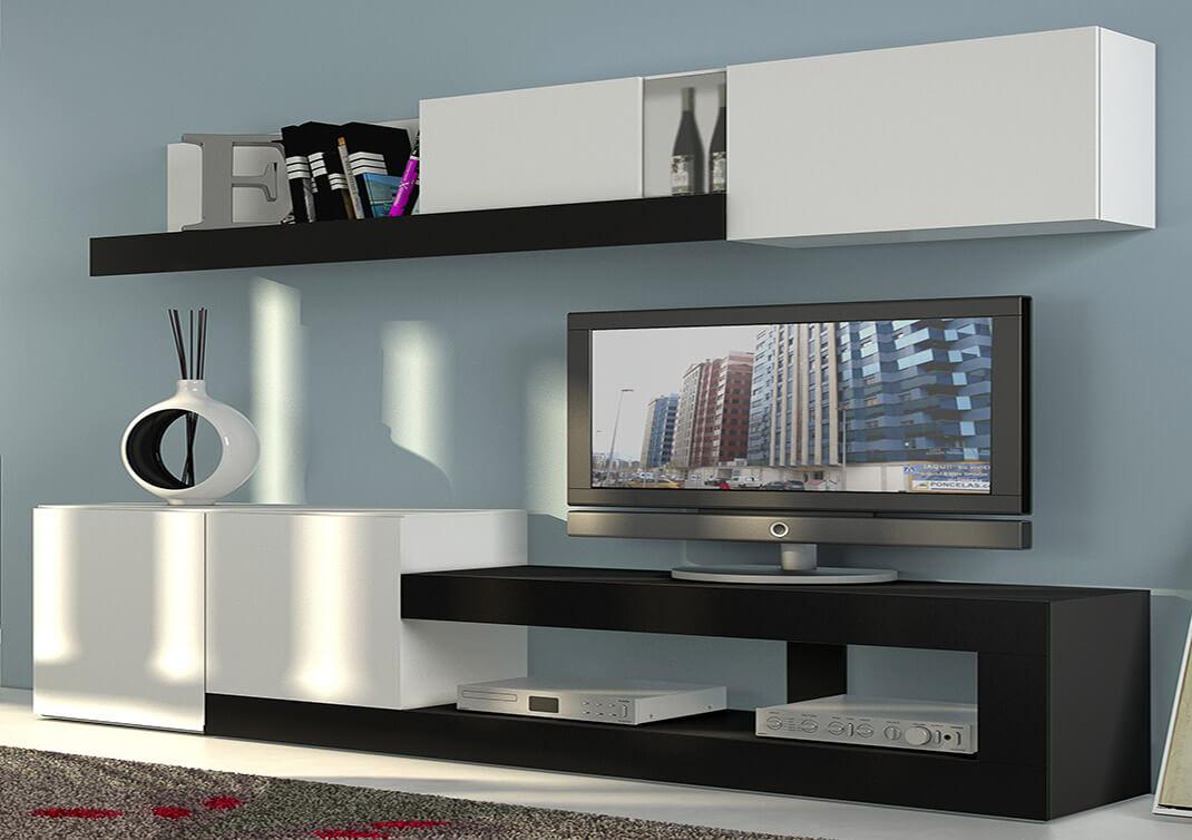 Decorar un mueble de salon incluso puedes mezclar varios for Decorar mueble salon moderno