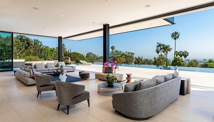 El Diseño y La decoración salon vistas piscina