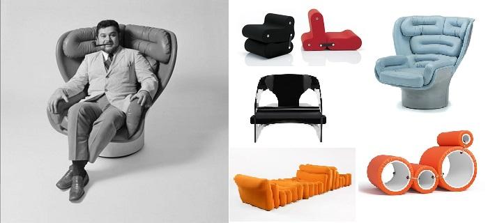 Joe Colombo diseño de mueble