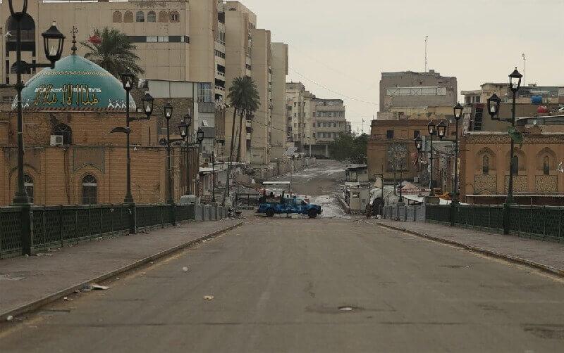 Bagdad, Irak ciudades vacías por coronavirus