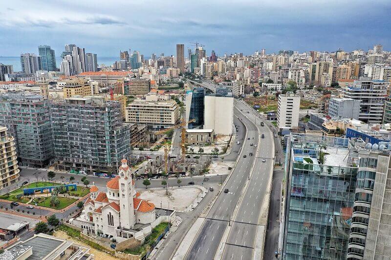 Beirut, ciudades vacías por coronavirus