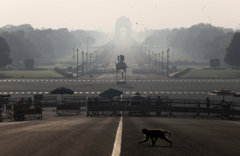 India Delhi ciudades vacías por coronavirus