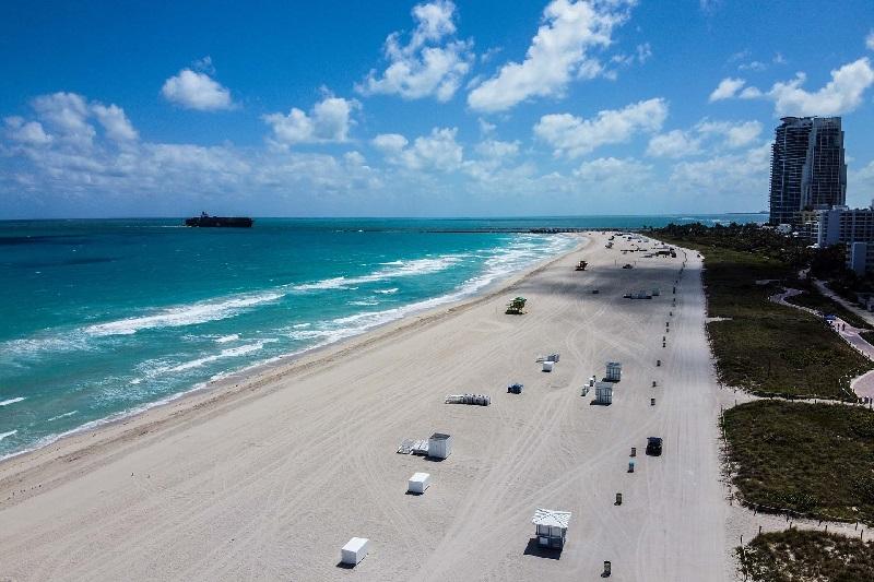 playas ciudades vacías por coronavirus
