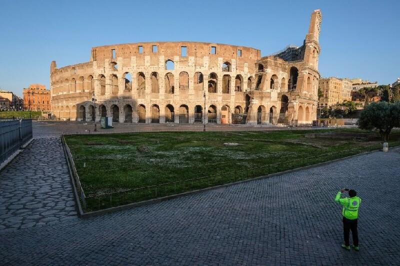 roma coliseo ciudades vacías por coronavirus