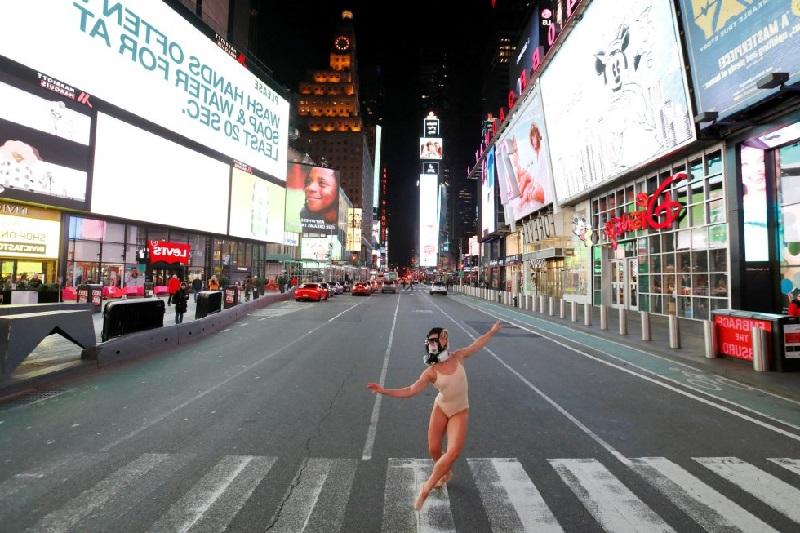 Times Square, en Nueva York (EE UU ciudades vacías por coronavirus