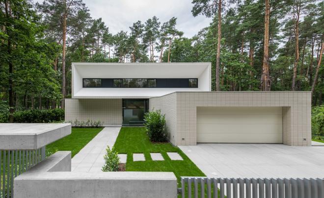 Casa fachada minimalista